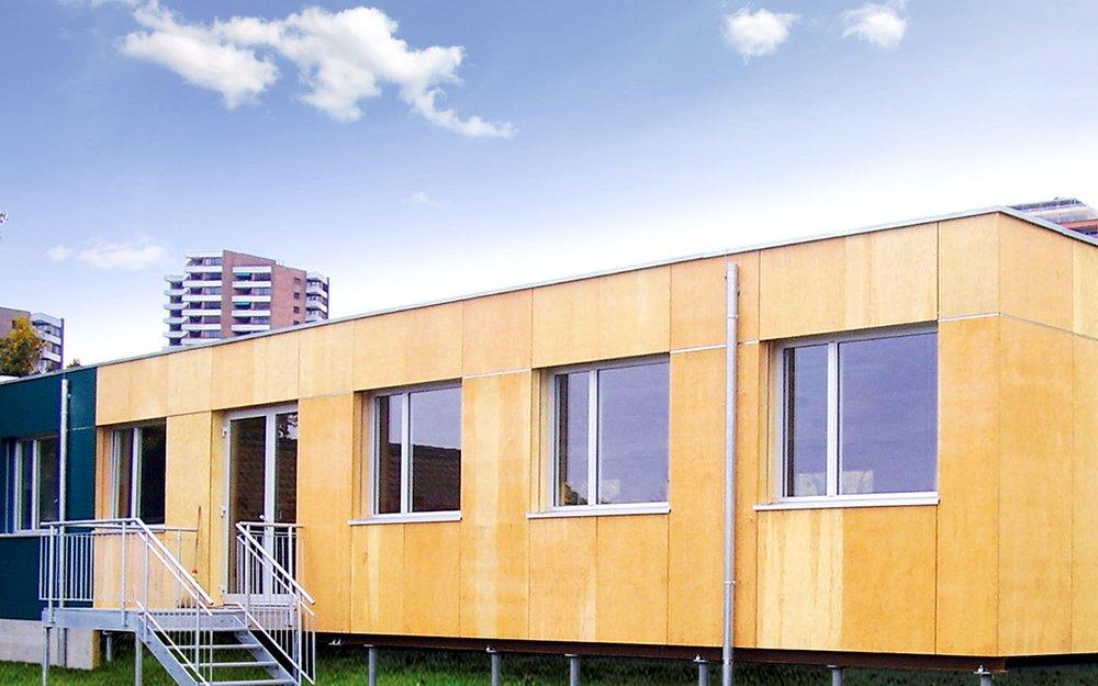 Provisorisches Schulgebäude