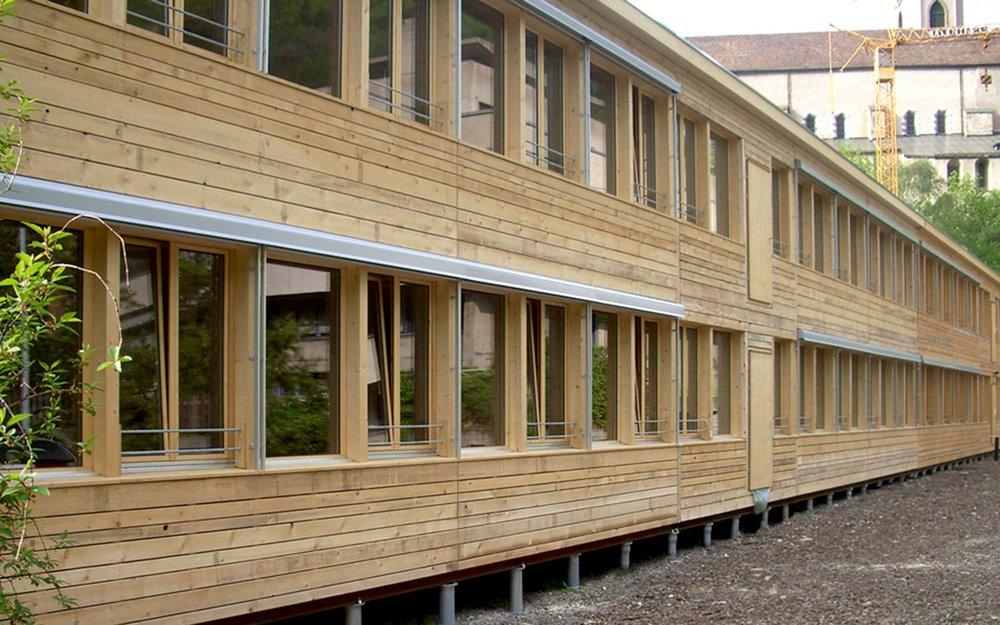 Gebäude in Holzbauweise